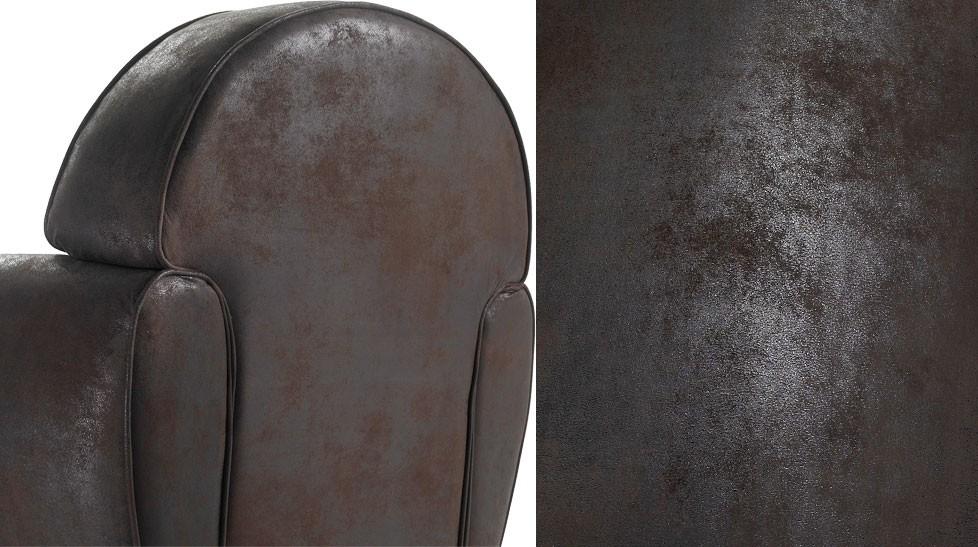 Canap 3 places vintage microfibre canap design - Canape convertible aspect cuir vieilli ...