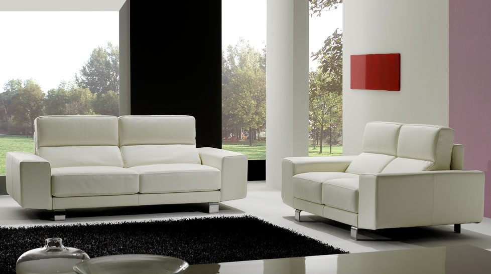 canap cuir blanc 2 places canap design pas cher. Black Bedroom Furniture Sets. Home Design Ideas