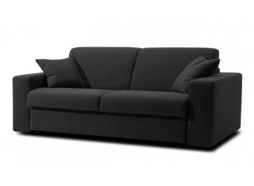 canapé-lit en tissu noir 3 places