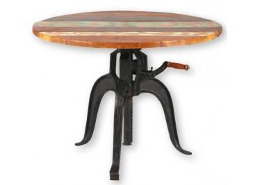 Table industrielle à crémaillère Ø 90 cm