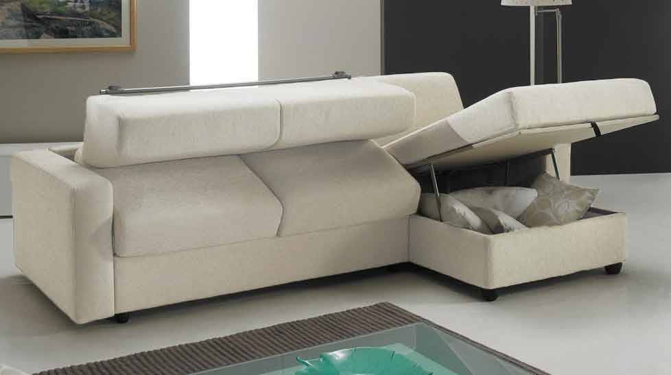 canap lit angle r versible couchage 140 cm tissu blanc. Black Bedroom Furniture Sets. Home Design Ideas