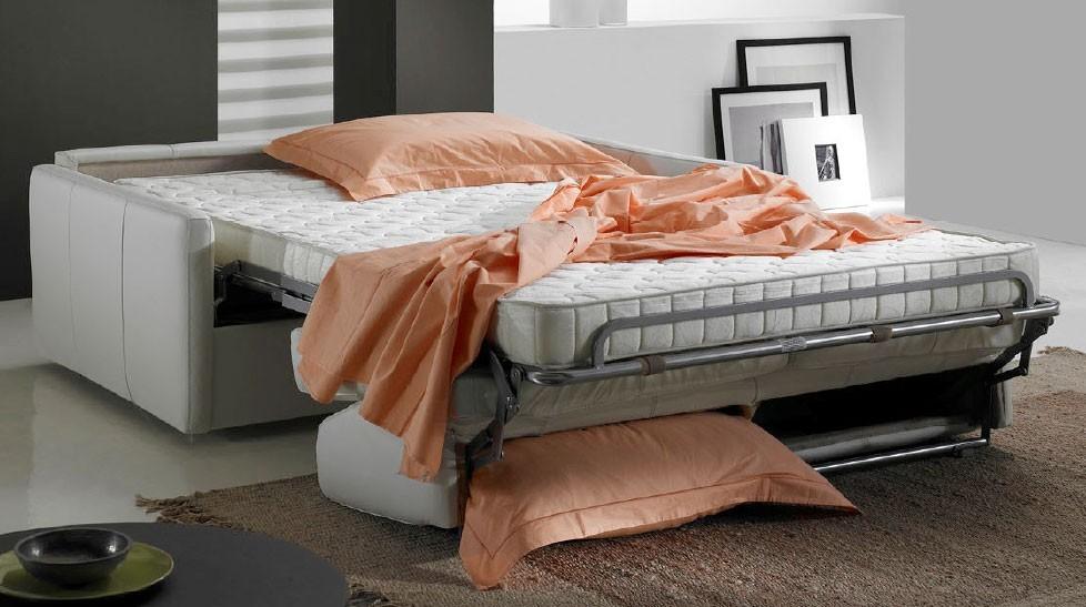 canap convertible en cuir 3 places lit 140 cm. Black Bedroom Furniture Sets. Home Design Ideas