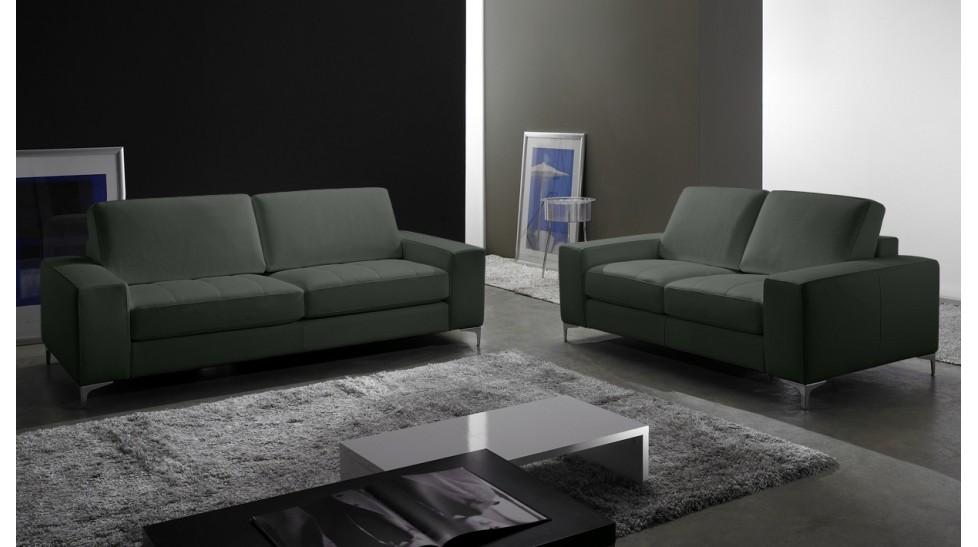 canap 2 places en cuir pas cher canap design. Black Bedroom Furniture Sets. Home Design Ideas