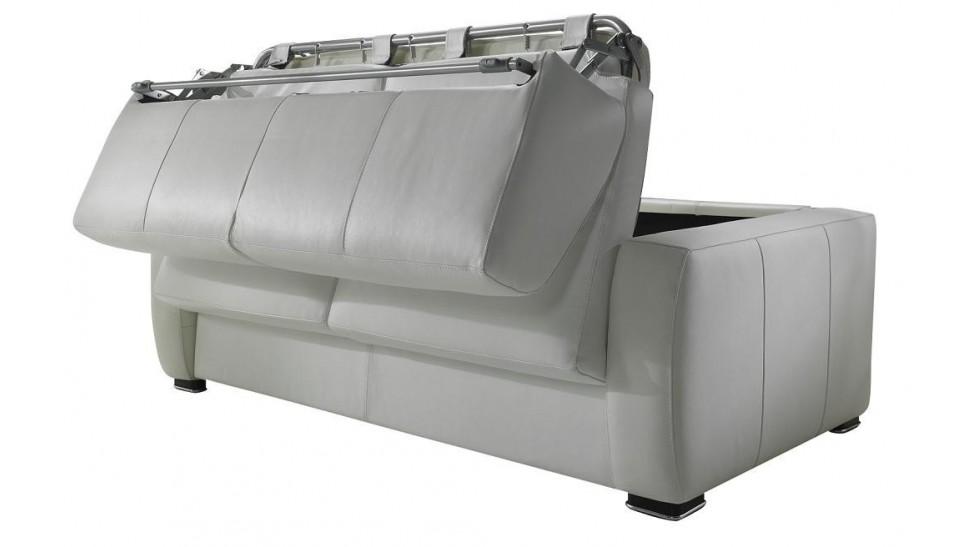 canap convertible rapido en cuir noir et blanc. Black Bedroom Furniture Sets. Home Design Ideas