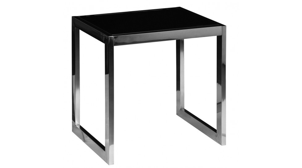 bout de canap inox et verre tremp noir table d 39 appoint. Black Bedroom Furniture Sets. Home Design Ideas