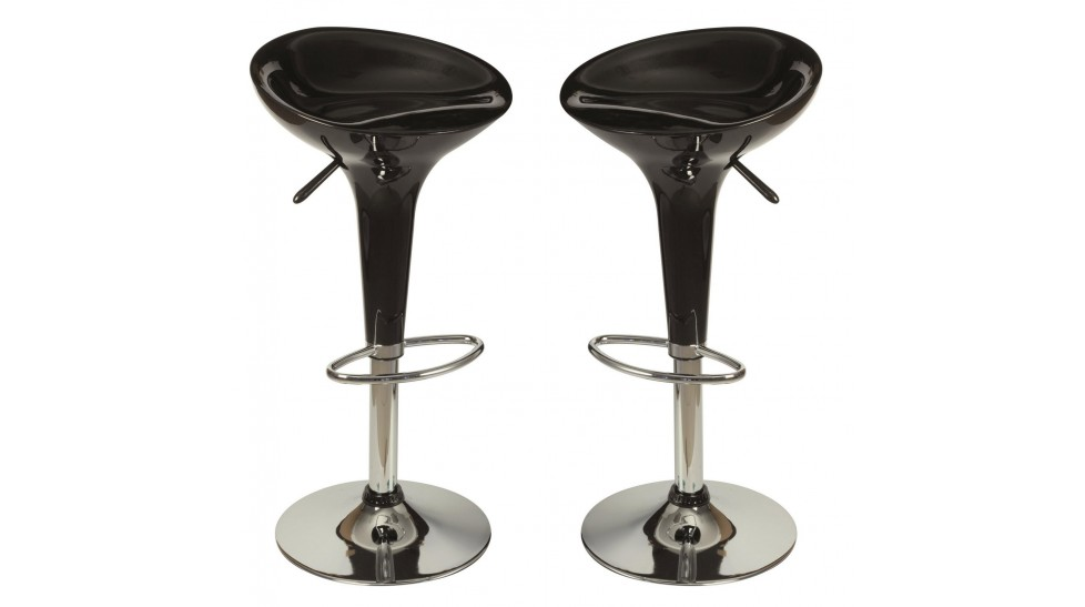 Tabourets de bar design noir chaise design pas cher for Siege de tabouret de bar