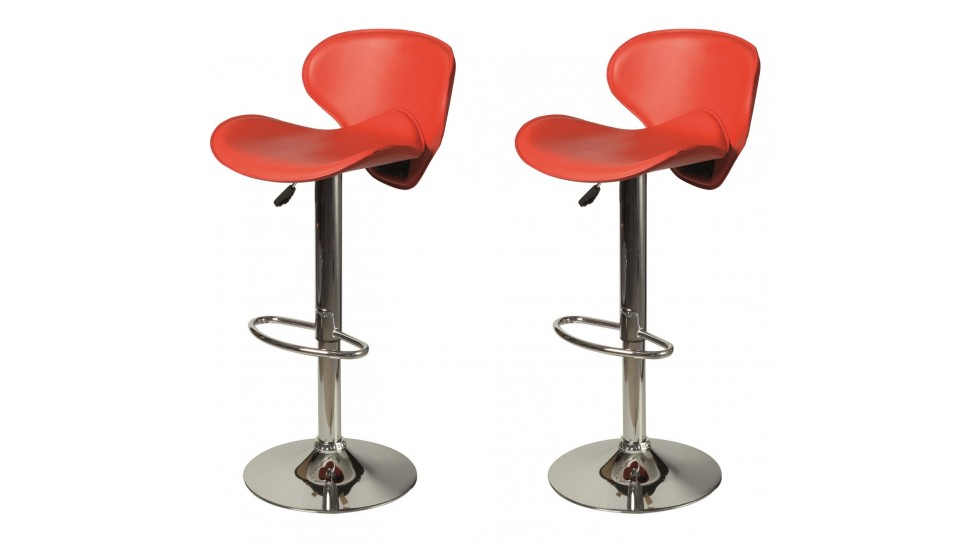tabouret de bar design en simili cuir rouge tabouret design pas cher. Black Bedroom Furniture Sets. Home Design Ideas