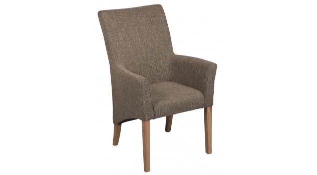 Chaise de salle manger en tissu gris chaise for Chaise salle a manger confortable