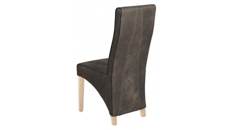 Chaises design pas cher en microfibre grise chaise salle manger - Chaise capitonne pas cher ...