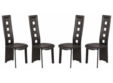 Lot de 4 chaises design noires