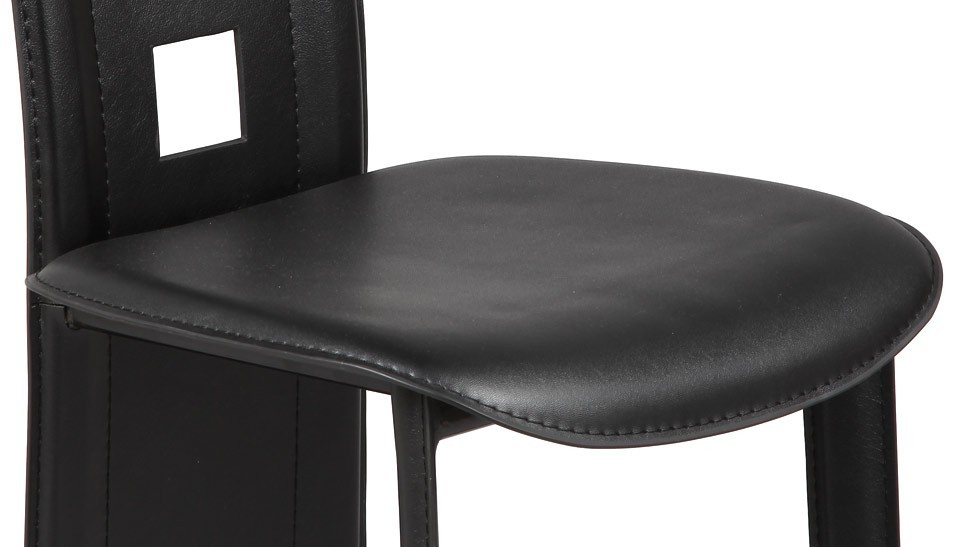 Chaise en PVC noir (lot de 4) pas cher  Chaise design