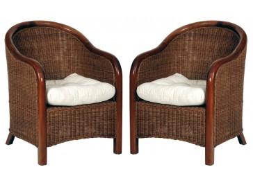 fauteuil en rotin tress teint acajou fauteuil rotin pas cher. Black Bedroom Furniture Sets. Home Design Ideas