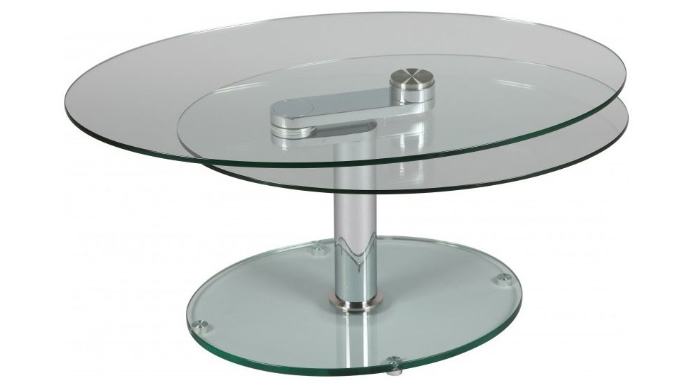 Table basse ovale en verre table basse design pas cher for Table ovale extensible pas cher