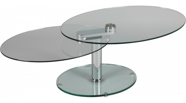 Table basse ovale en verre table basse design pas cher for Table ovale pas cher