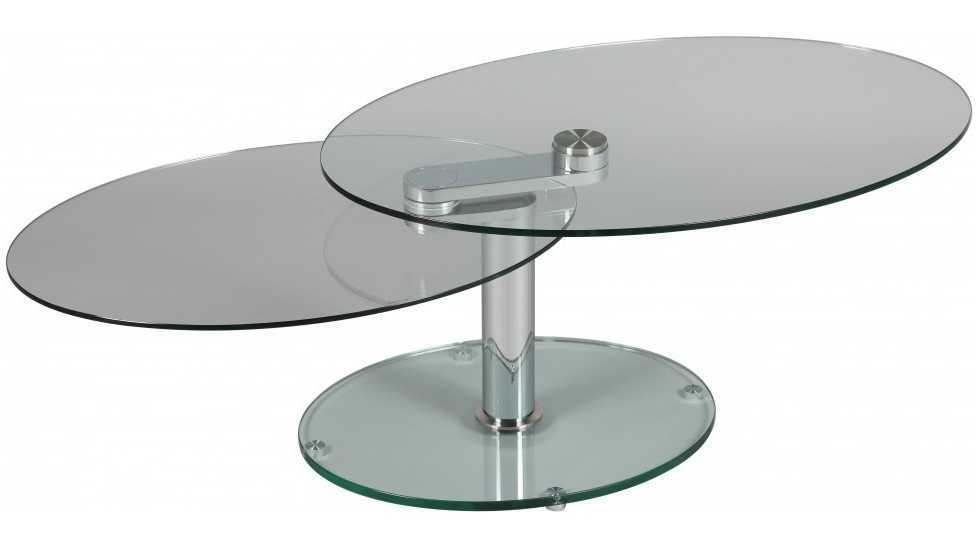 Table basse ovale en verre table basse design pas cher for Table basse salon verre