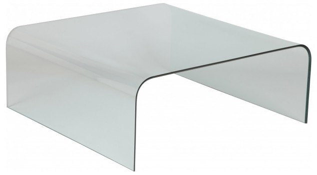 Table basse design carr e en verre courb table basse - Table basse carree pas cher ...