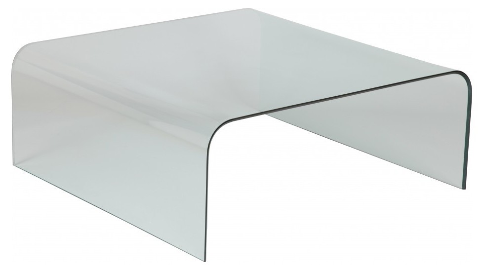Table basse design carr e en verre courb table basse - Table basse verre design pas cher ...