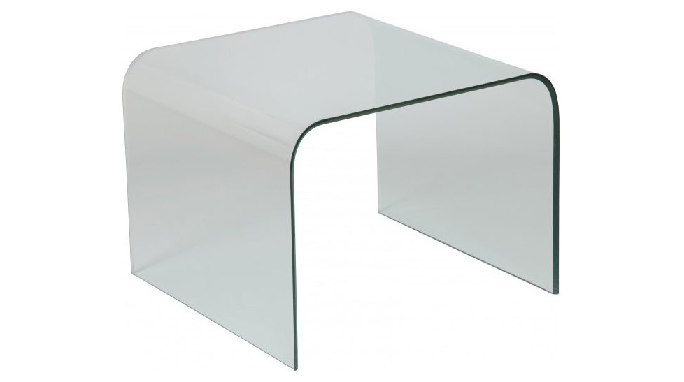 Bout de canap design verre courb carr table basse en for Bout de canape verre