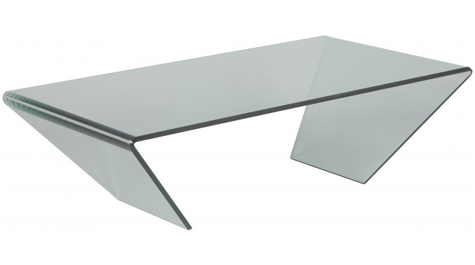 Table basse design verre courb table basse pas ch re - Table basse contemporaine en verre ...