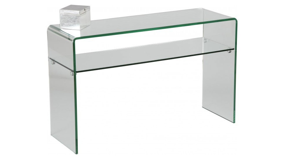 Console design en verre courb 1 rayon console design - Table console pas chere ...