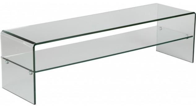 meuble tv en verre courb avec un rayon meuble tv design