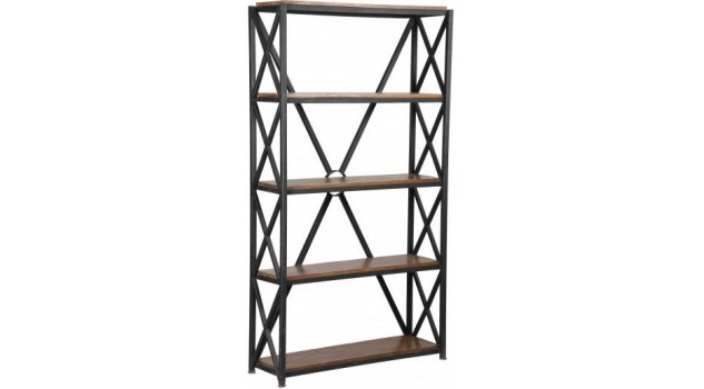 etag re 5 niveaux en acier design industriel tag re biblioth que design. Black Bedroom Furniture Sets. Home Design Ideas