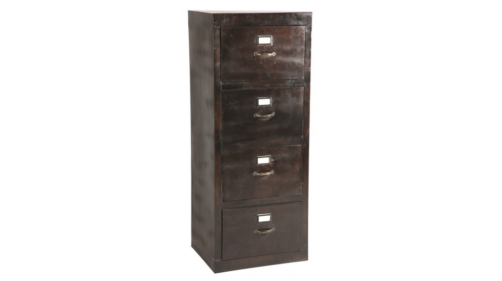 armoire de rangement dossiers 4 tiroirs meuble de. Black Bedroom Furniture Sets. Home Design Ideas