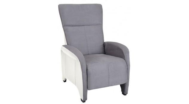fauteuil relax manuel gris et blanc pas cher fauteuil d tente design. Black Bedroom Furniture Sets. Home Design Ideas