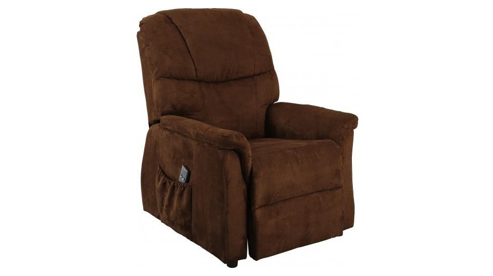 fauteuil releveur lectrique microfibre chocolat fauteuil releveur pas cher. Black Bedroom Furniture Sets. Home Design Ideas