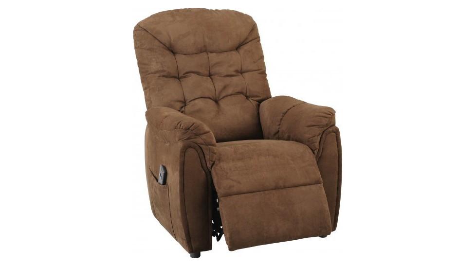 fauteuil releveur lectrique capitonn microfibre fauteuil d tente releveur de qualit. Black Bedroom Furniture Sets. Home Design Ideas
