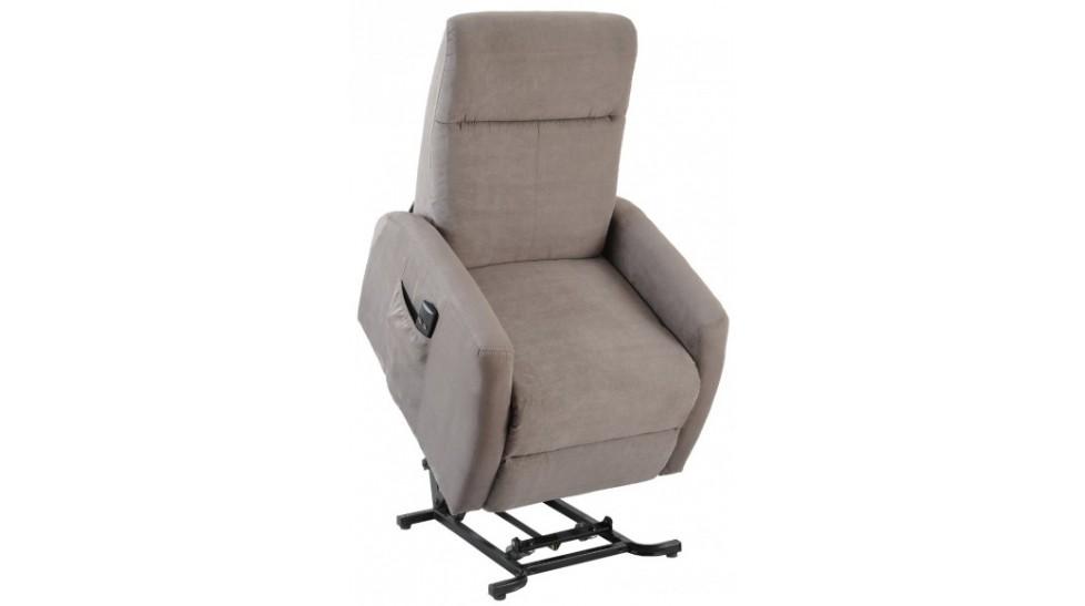 fauteuil d tente lectrique fonction releveur en microfibre grise pas cher. Black Bedroom Furniture Sets. Home Design Ideas