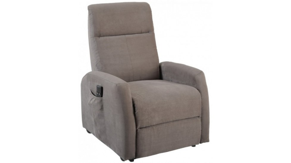 fauteuil d tente lectrique fonction releveur en microfibre grise pas cher. Black Bedroom Furniture Sets. Home Design Ideas