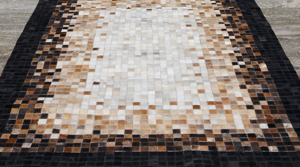 Tapis en peaux de vache haut de gamme - tapis patchwork