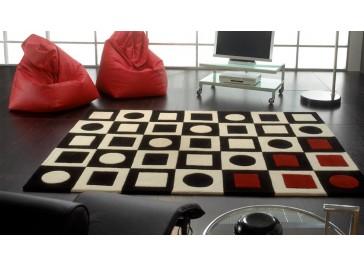 tapis en peaux de vache patchwork tapis haut de gamme. Black Bedroom Furniture Sets. Home Design Ideas