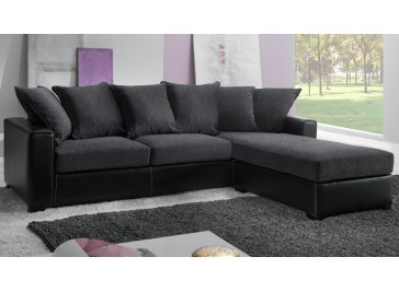canap d 39 angle pas cher canap italien tissu gris. Black Bedroom Furniture Sets. Home Design Ideas