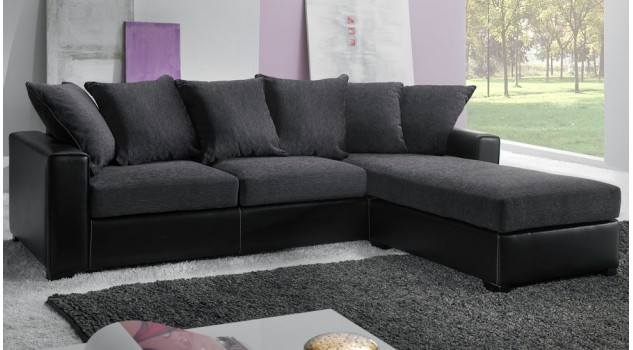 canap angle r versible tissu gris pas cher canap. Black Bedroom Furniture Sets. Home Design Ideas