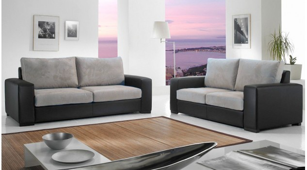 canap italien 2 places pas cher canap microfibre gris. Black Bedroom Furniture Sets. Home Design Ideas