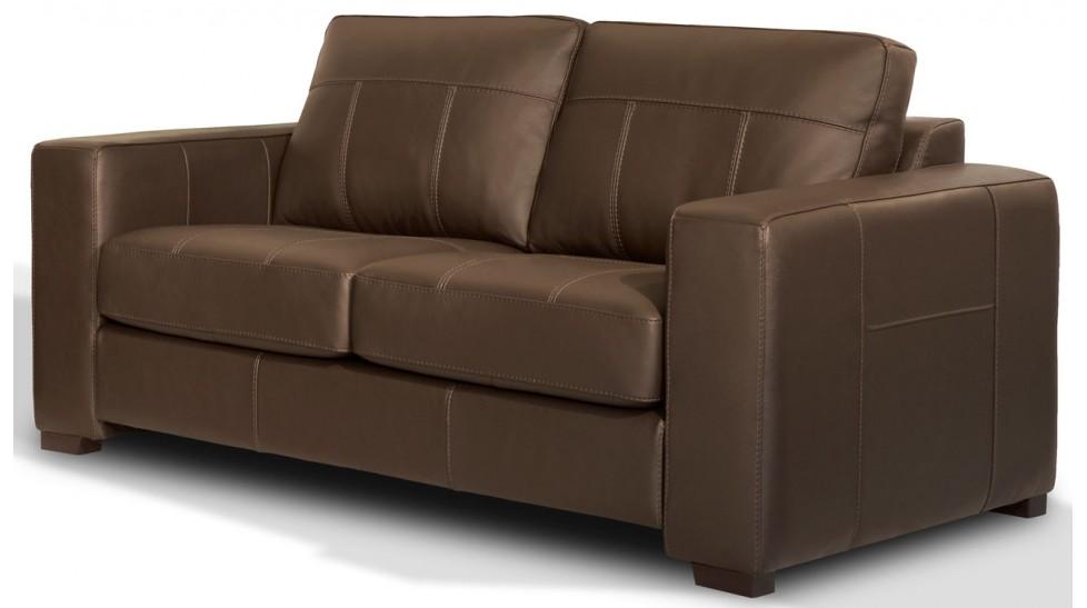 canap 2 places en cuir marron pas cher canap italien. Black Bedroom Furniture Sets. Home Design Ideas