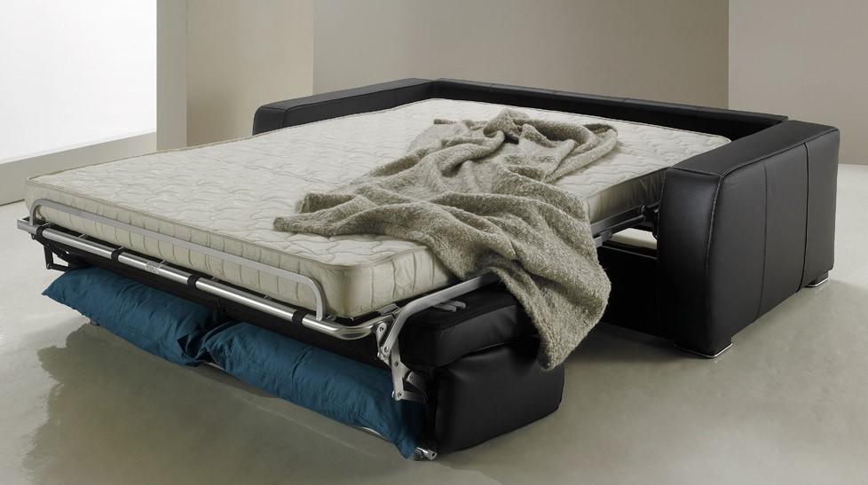 Canapé Convertible En Cuir Places Lit Cm PROMO USINE - Canape convertible cuir rapido discount