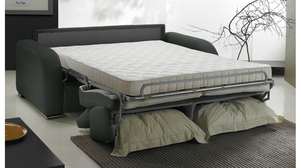 canap convertible 2 places en cuir lit 120 cm prix usine italie. Black Bedroom Furniture Sets. Home Design Ideas