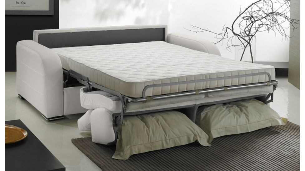 Canapé convertible 2 places en cuir lit 120 cm [PRIX USINE