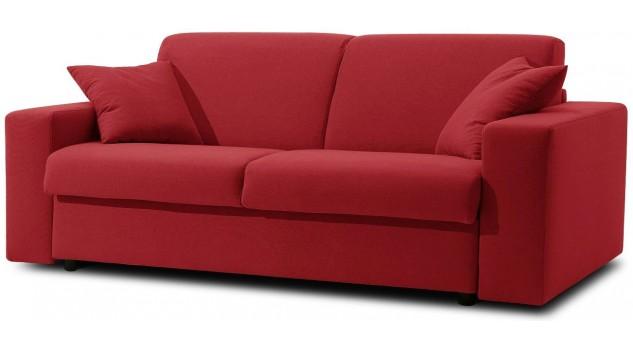 canap convertible 2 places microfibre rouge canap lit. Black Bedroom Furniture Sets. Home Design Ideas