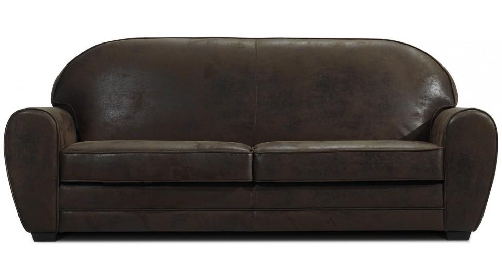 canap 3 places vintage microfibre canap design. Black Bedroom Furniture Sets. Home Design Ideas