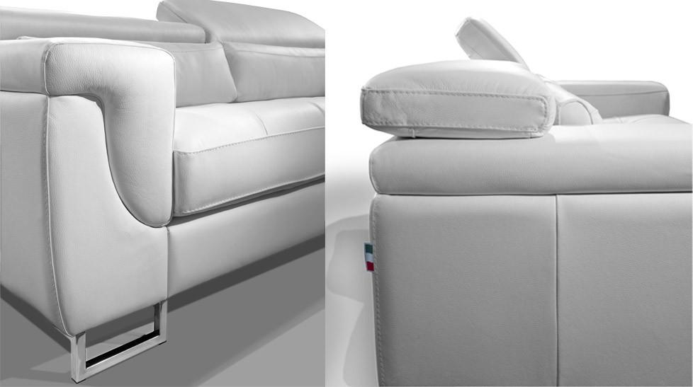 canap cuir design blanc 3 places michel - Canape Blanc Design