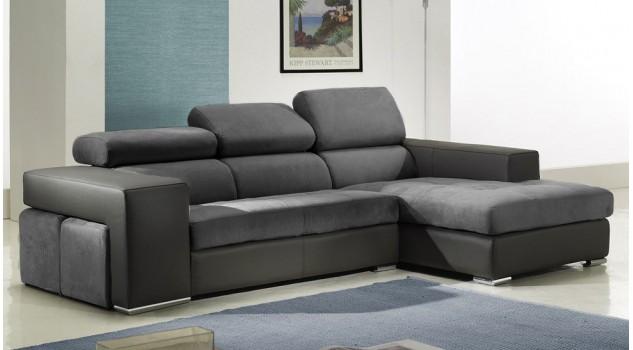 Canapé d'angle design microfibre - Némo