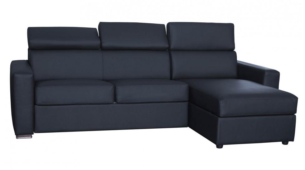 Lit 140 Et Convertible 5p Canapé Cm Réversible Cuir D'angle Daniel QthxdCrBs