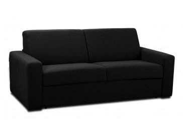 canapé convertible 3 places en tissu noir - Java