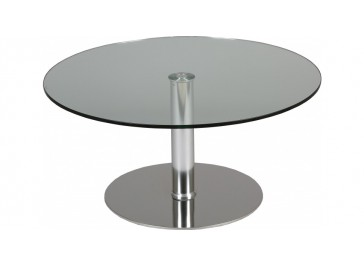 Table ronde Ø 90 cm relevable verre trempé