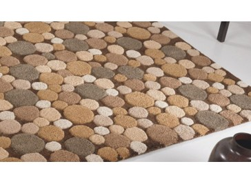 Tapis laine tufté main marron - Moonstone