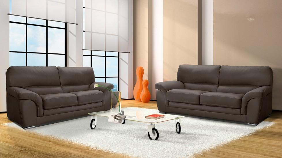 canap 2 places en cuir canap pas cher. Black Bedroom Furniture Sets. Home Design Ideas